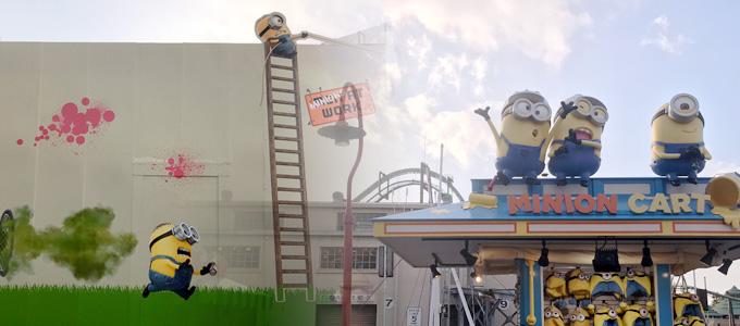 【USJ】COMING SOON!!4月オープン予定の「ミニオン・パーク」建設中!