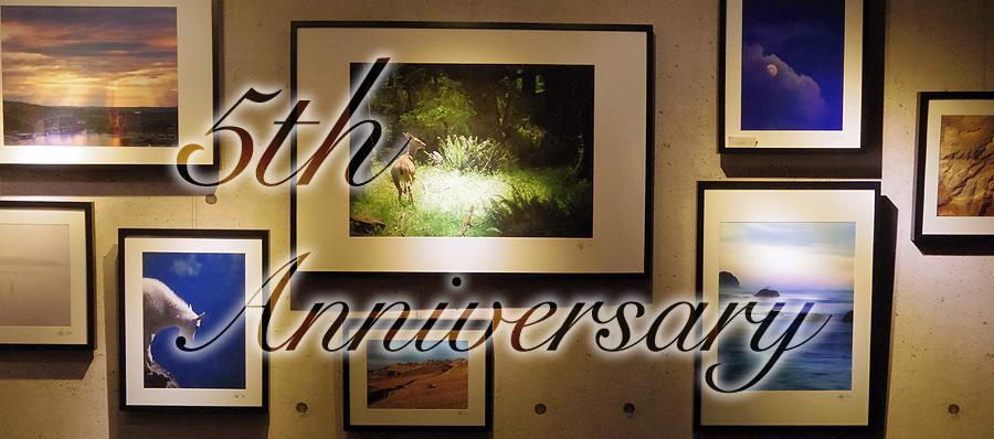 LEO MIYANAGA GALLERYがもうすぐ5周年!!!!記念パーティーとか色々やります!今日から3月1日までに来場で作品プレゼント!!(すげぇ!!!)