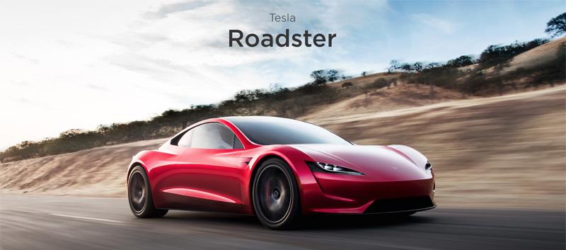 """テスラ、新型「ロードスター」を発表、""""0-96km/h=1.9秒""""の最速モデルを2020年に発売へ"""