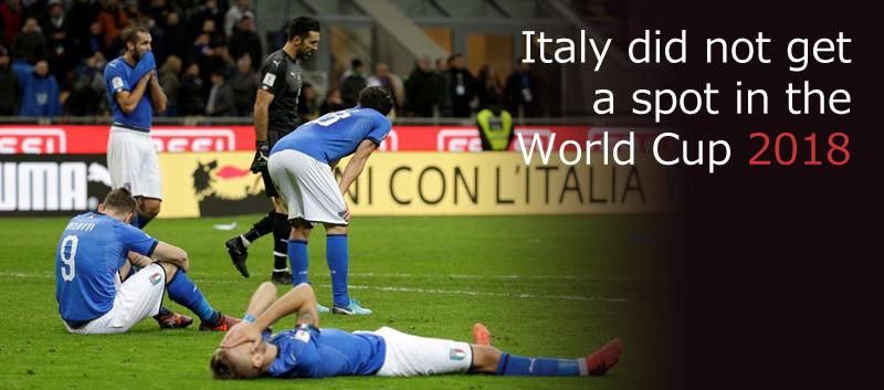 イタリア、1958年大会以来のW杯予選敗退の衝撃!