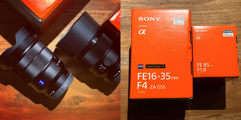 【Lens】SONY「FE 16-35mm F4 ZA」と「FE 85mm F1.8」を追加【First Impression】